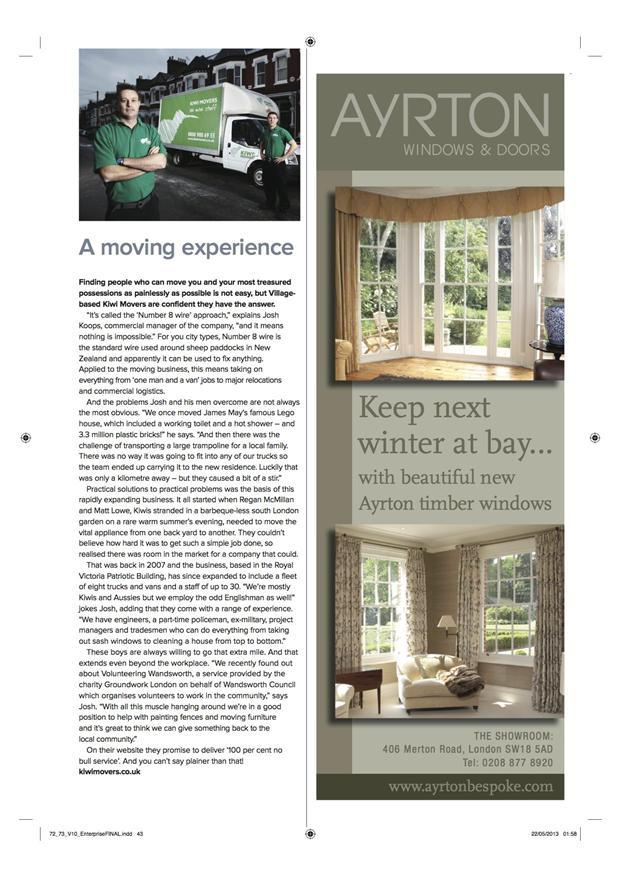 Kiwi Movers in magazine