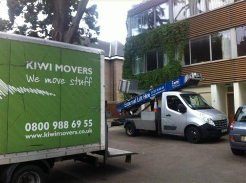 Moving with hoists
