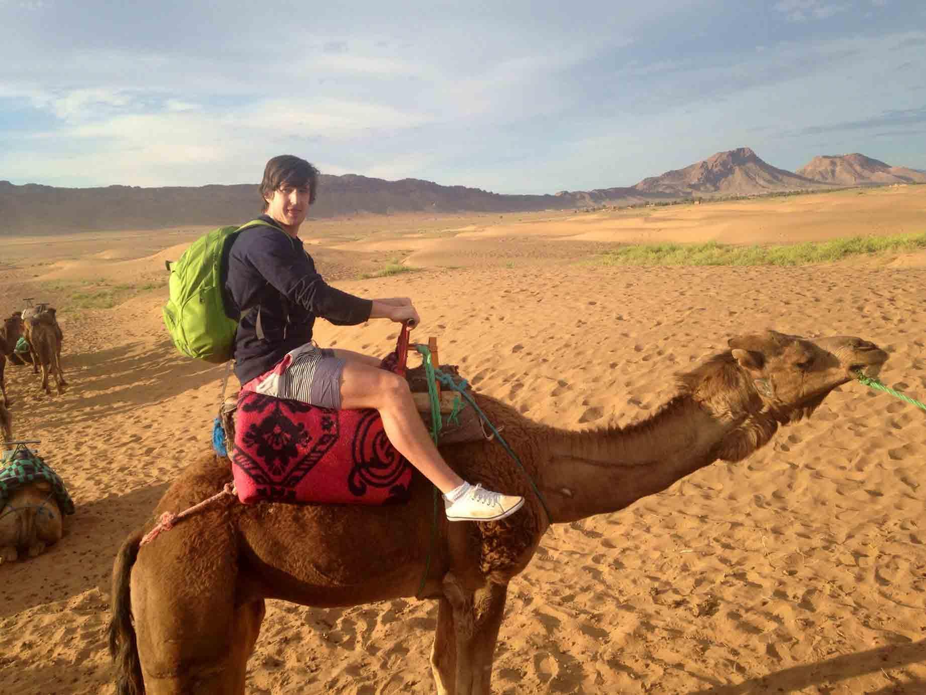 Matt on a camel
