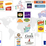 A map of the world illustrating food we miss the most