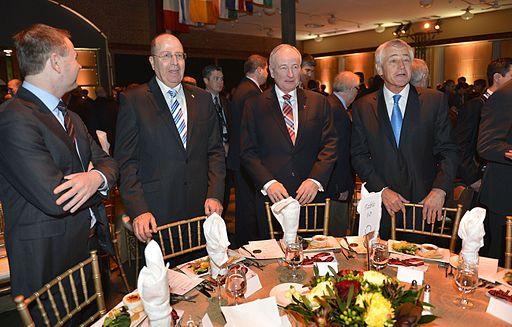 Chuck Hagel gala dinner kicking off the Halifax International Security Forum in Halifax Nova Scotia. 131122 D NI589 901 11002926326