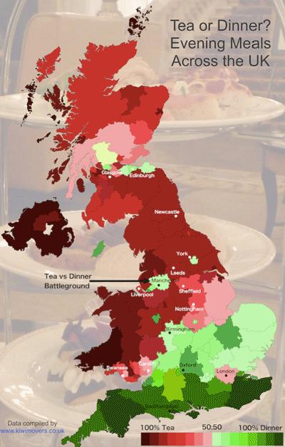 Tea or Dinner map