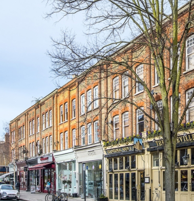 A street in Clapham, west London
