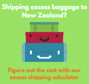 Excess baggage shipping banner ad
