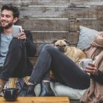 Couple with pug