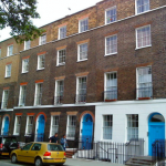 Row of Georgian houses in London
