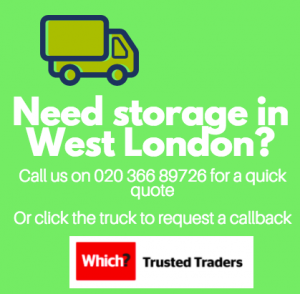 advert for storage in London in article about storing books