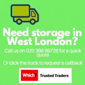 Banner advert for storage in West London and student storage across London