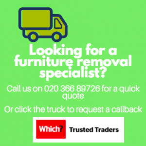 banner advert for hotel furniture removals specialist in london