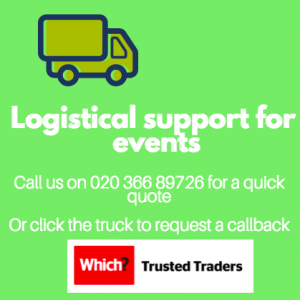logistical support and removals for events