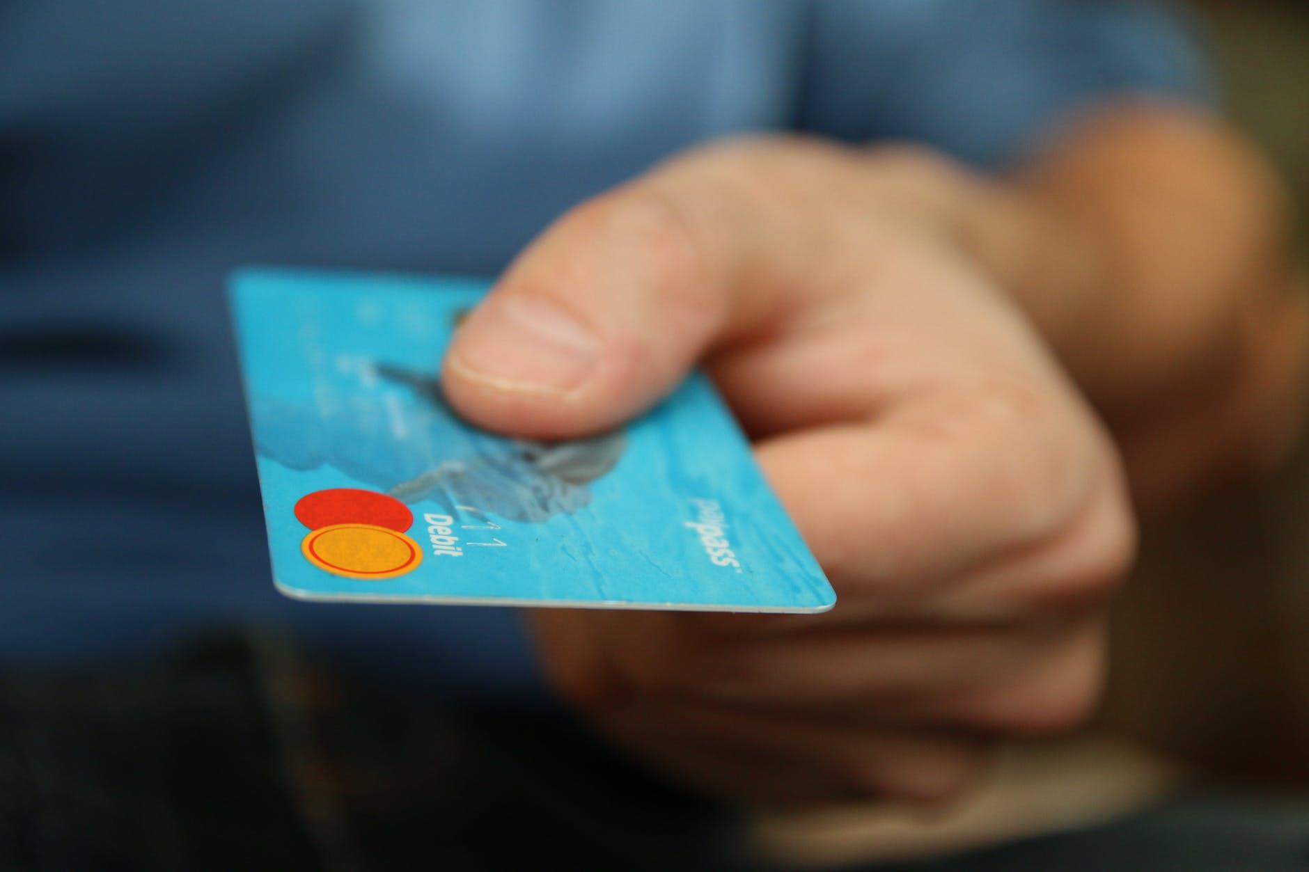 Holding debit card