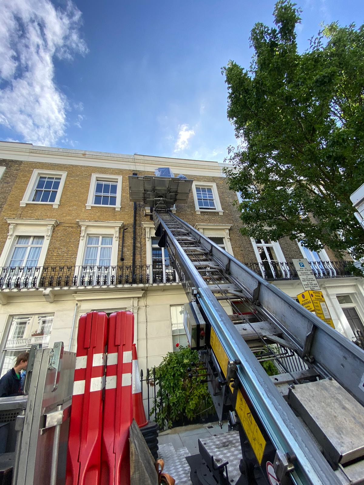 Using a removal hoist for moving in London